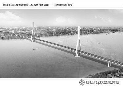 沌口长江大桥效果图