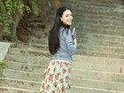 武汉嫩模曹阳校园漫步写真 秀清纯甜美气质