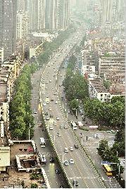 图为:三阳路高架局部拆除对内环交通影响很大