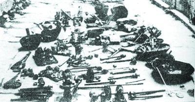 图为林则徐武汉禁烟时,在汉阳收缴的部分烟土、烟具。