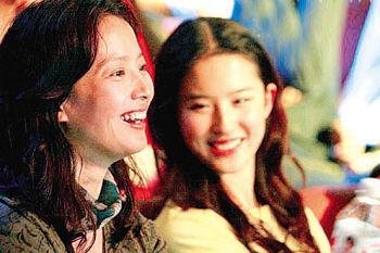 刘亦菲和妈妈刘晓莉