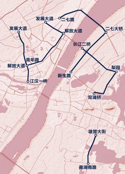 武汉9条公交专用车道