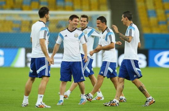 阿根廷赛前训练