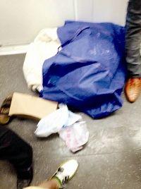 图为:车内乘客遗落的物品 图片由网友提供
