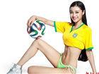 国家女子健身队助威世界杯 身材饱满激情四射