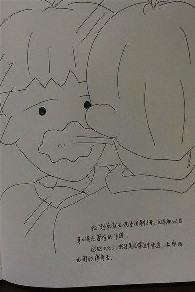 阳光男生漫画手绘铅笔画全身