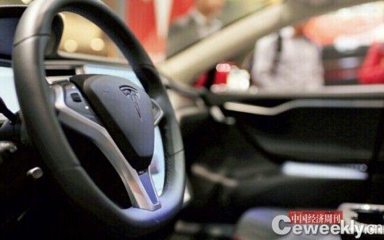 """特斯拉汽车正式进入中国.""""高大上""""的纯电动汽车很快成为中高清图片"""