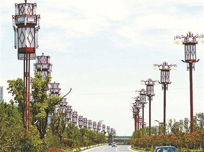 安徽宿州市景观大道路灯一年电费300万元摄影/新华社记者王圣志