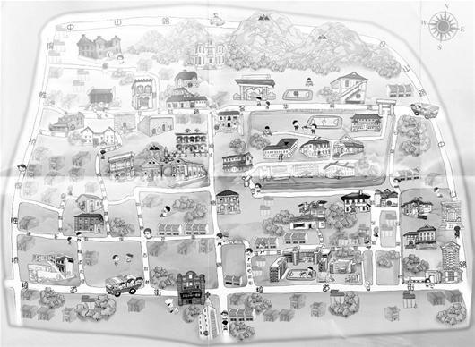 武汉首套手绘地图亮相 堪称最萌萌哒地图(图)
