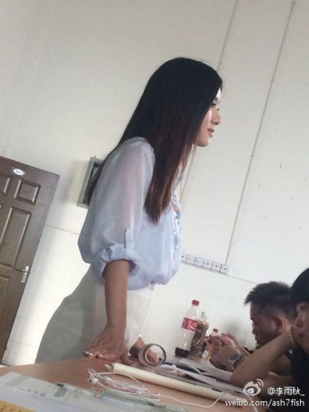 日语美女教师走红