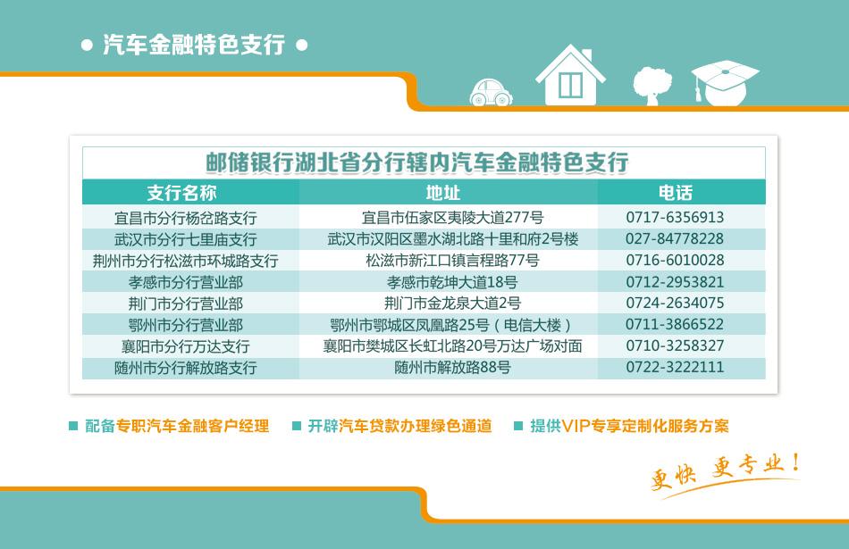 中国邮政储蓄银行 个人汽车消费贷款_湖北站