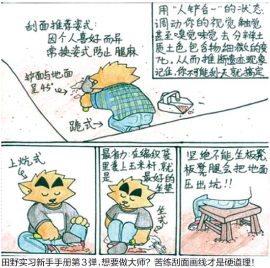 90后女生漫画揭秘考古生活:考古不是挖恐龙古