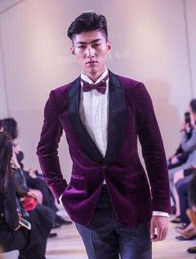 西装男模特造型