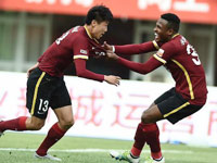 上半场华夏1-1永昌 董学升打进处子球边卫扳平