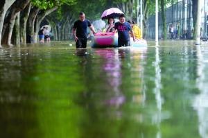 南京持续暴雨 秦淮河流域启动防汛Ⅲ级应急响应