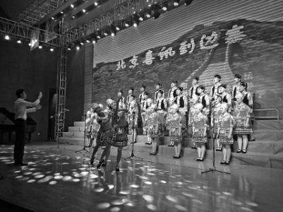 宝鸡市近400名师生放歌 纪念长征胜利80周年