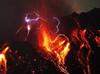 火山喷发伴闪电