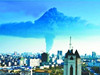 荆州现巨型蘑菇云