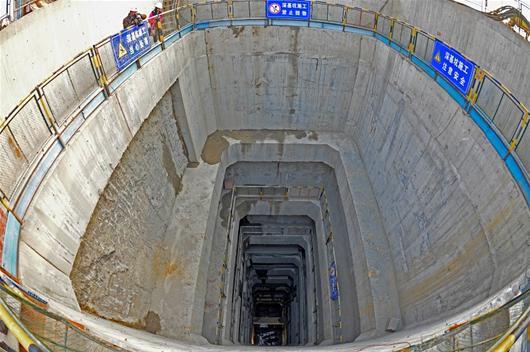 武汉地铁48米最深坑
