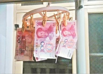 新生衣架晾钞票