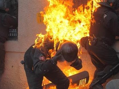 乌克兰示威现场