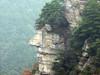 庐山崖壁巨人头像