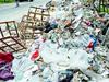 垃圾包围武汉小区