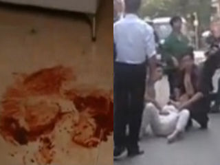 武汉女家中遭前姐夫连捅6刀身亡 血染地板
