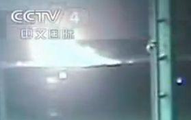 中国战机空中撞鸟