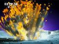 流星撞月球生爆炸