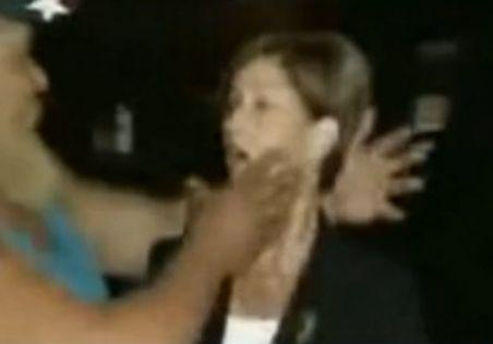 美女记者遭强吻
