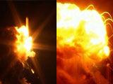 实拍美国飞船发射6秒后爆炸 火光冲天