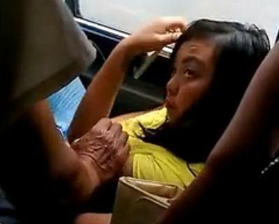 女子公交遭咸猪手