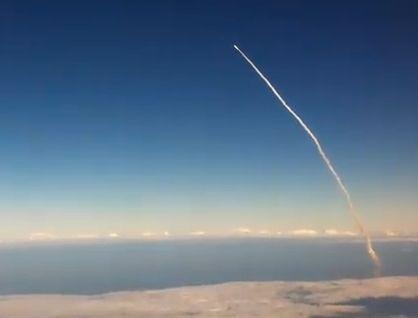 实拍航天飞机发射