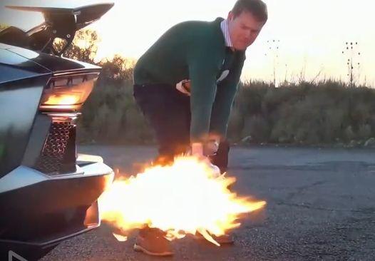 土豪用尾气烤火鸡