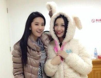 刘亦菲姚贝娜晒合影 儿时曾是亲密小伙伴